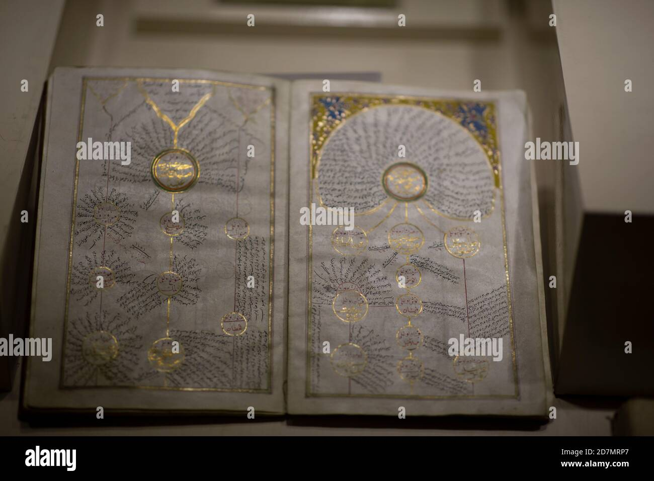 Ankara, Turkey; 08 October 2020: Manuscript Pedigree of Holy Prophet Mohammed Stock Photo