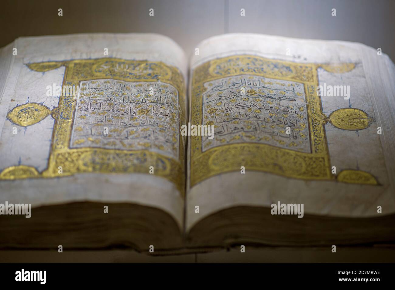 Ankara, Turkey; 08 October 2020: Manuscript Quran view from ancient times Stock Photo