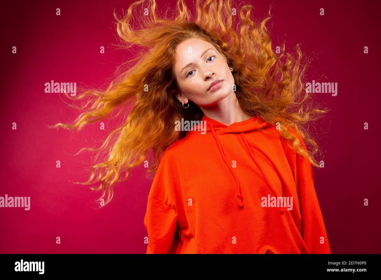 Curly Red Hair Freckles Teenager High Resolution Stock Photography And Images Alamy