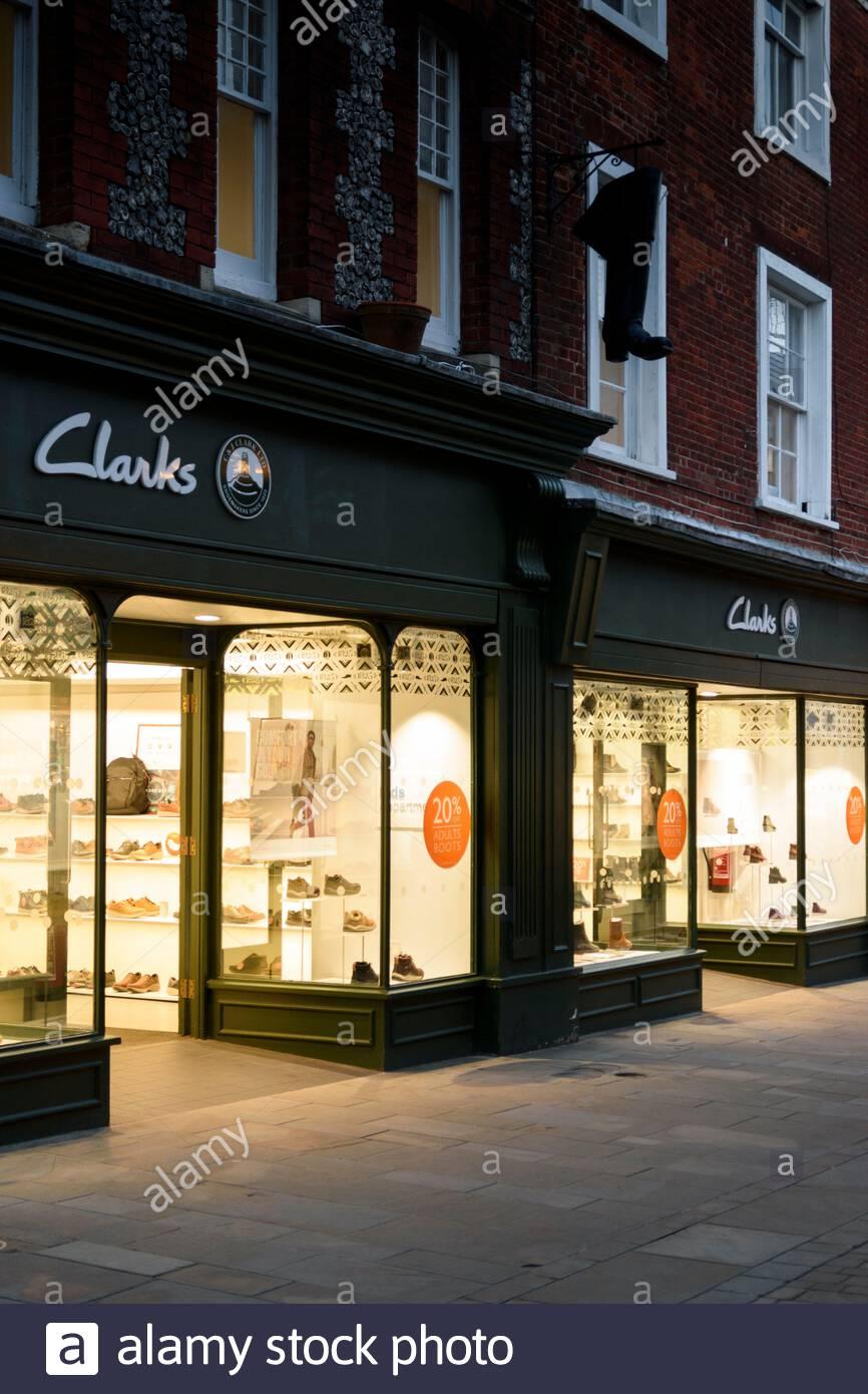 Clarks Shoe Shops High Resolution Stock