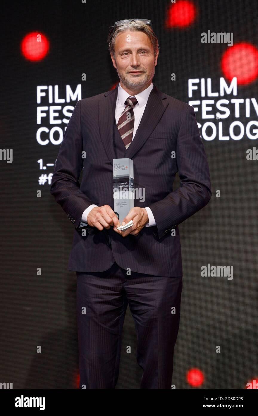 Mads Mikkelsen attending the Film Festival Cologne Awards 2020 at the 30th Film Festival Cologne 2020 at Palladium on October 8, 2020 in Cologne, Germany Stock Photo
