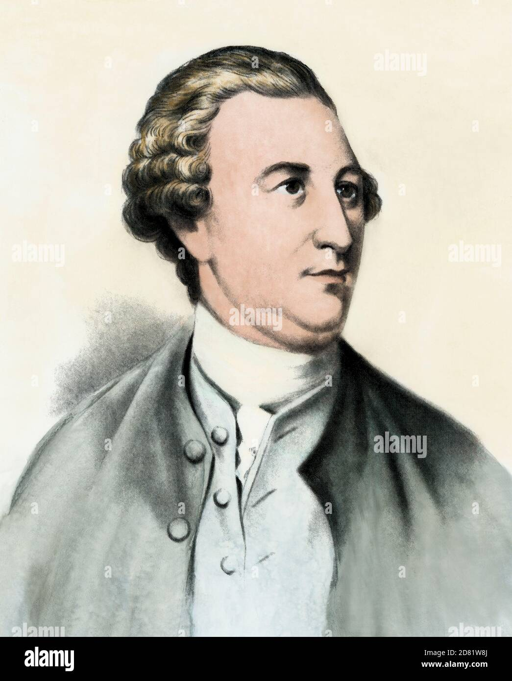 William Paca, signer of the Declaration of Independence. Hand-colored halftone Stock Photo