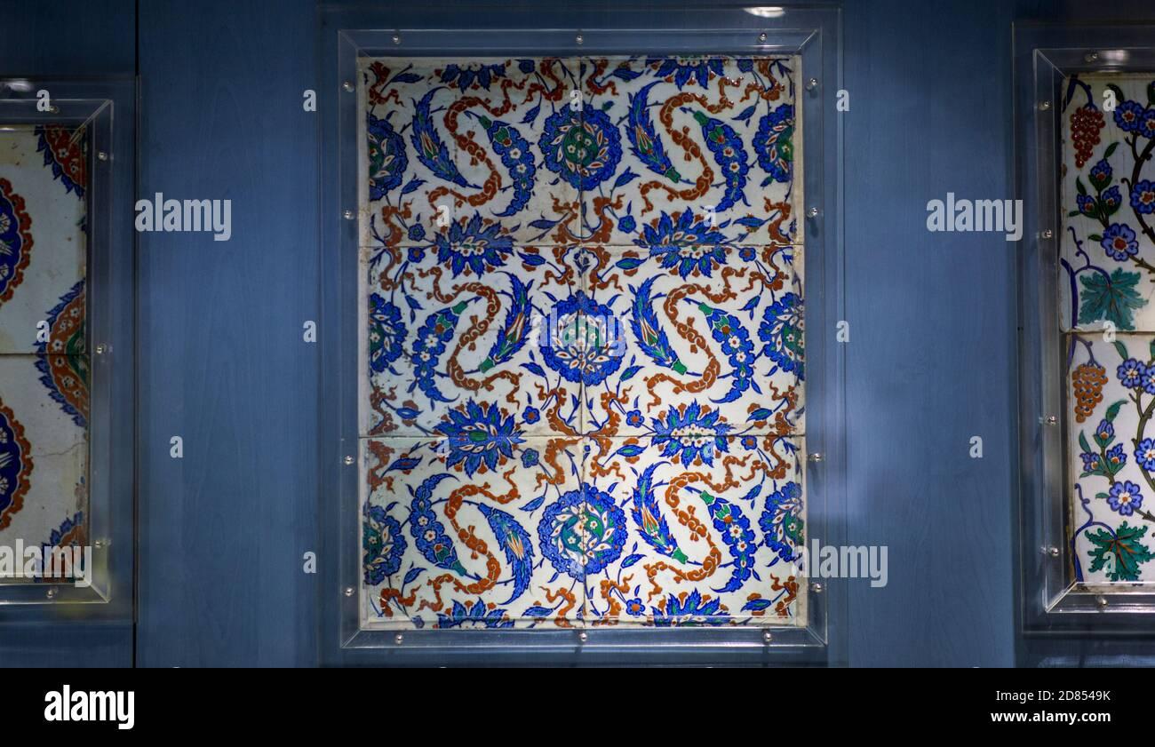 Ceramic Tiles from Ottoman Empire Stock Photo