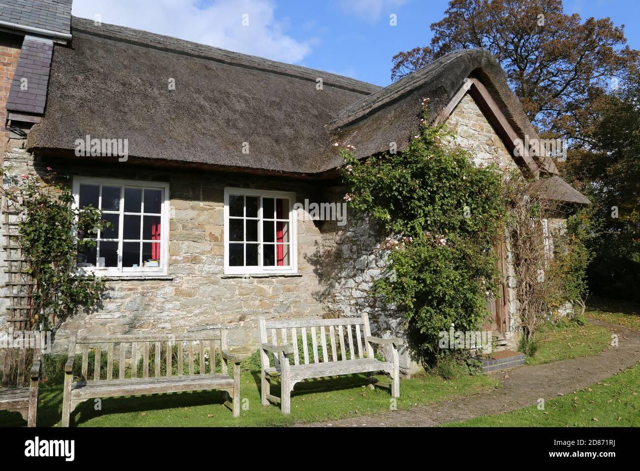 Pales Quaker Meeting House, Llandegley, Llandrindod Wells, Radnorshire, Powys, Wales, Great Britain, United Kingdom, UK, Europe Stock Photo