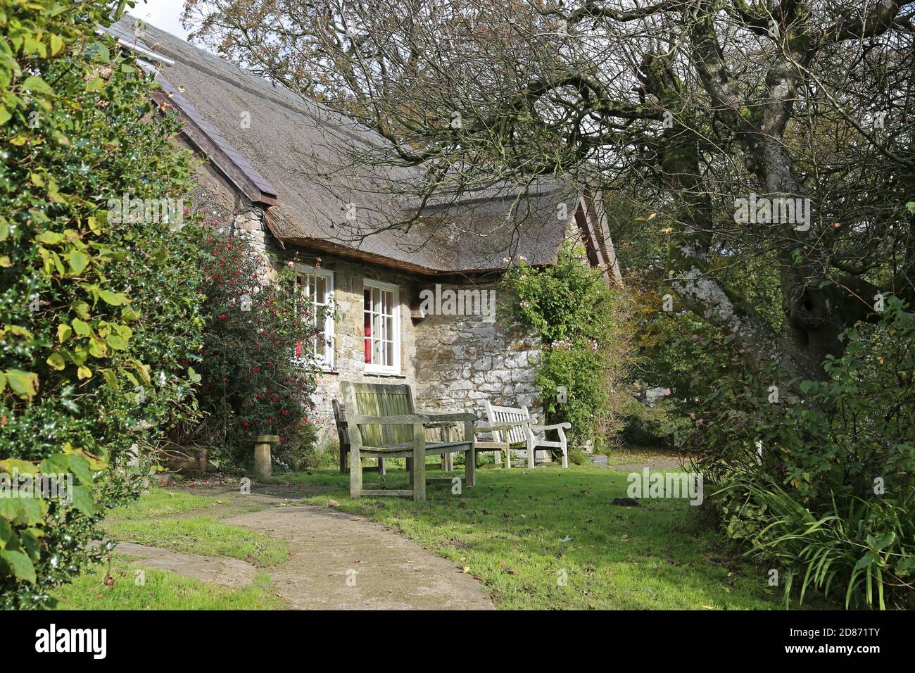 Pales Quaker Meeting House, Llandegley, Llandrindod Wells, Radnorshire, Powys, Wales, Great Britain, United Kingdom, UK, Europe Stock Photo