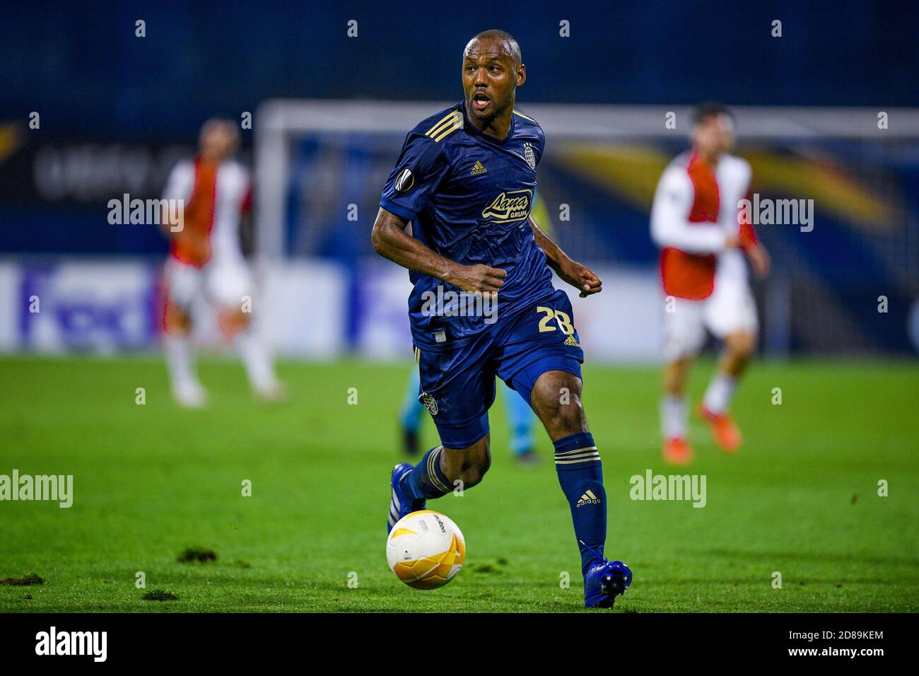 Kevin Theophile Catherine Of Dinamo Zagreb During The Uefa Europa League Group Stage Group K Football Match Between Dinamo Zagreb And Feyenoord Ro C Stock Photo Alamy