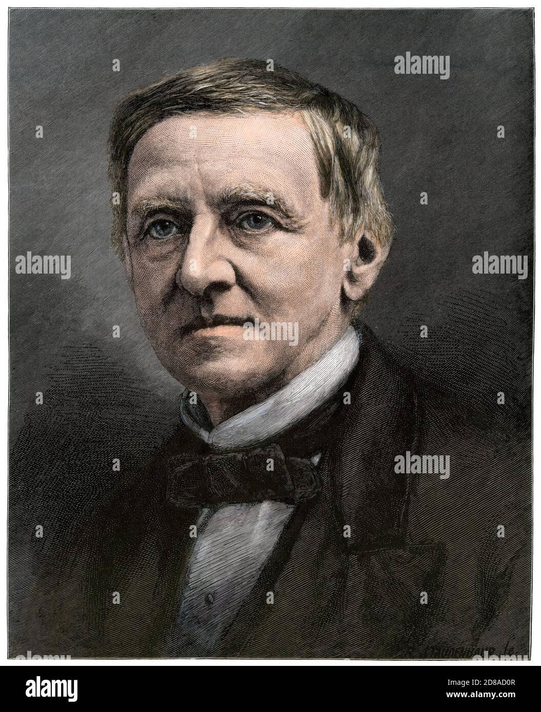 Samuel J. Tilden, Democrat presidential candidate, 1876. Hand-colored woodcut Stock Photo