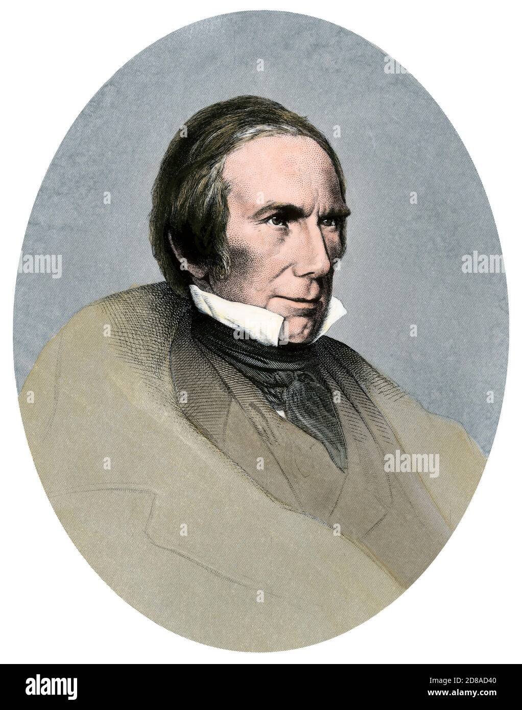 Henry Clay. Hand-colored engraving Stock Photo