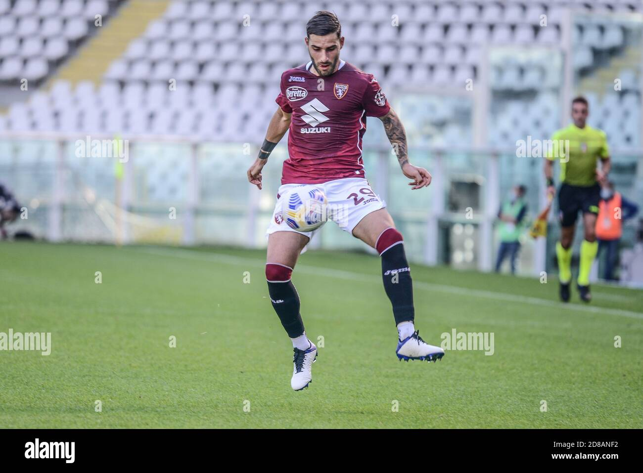 Nicola Murru of Torino FC during the Coppa Italia football match between Torino FC and US Lecce at Olympic Grande Torino Stadium on October 18, 2020 i Stock Photo