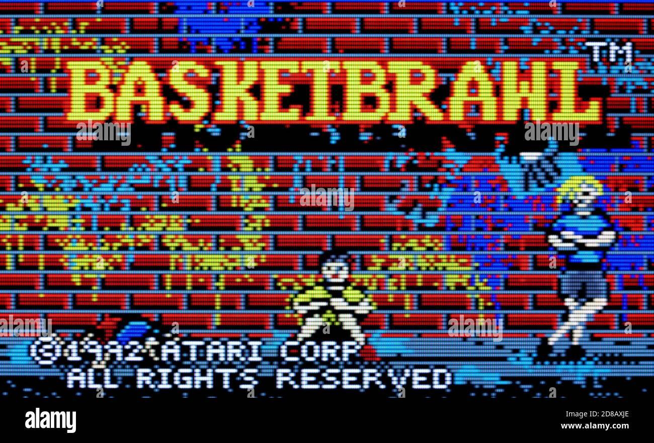 Basketbrawl - Atari Lynx Videogame - Editorial use only Stock Photo
