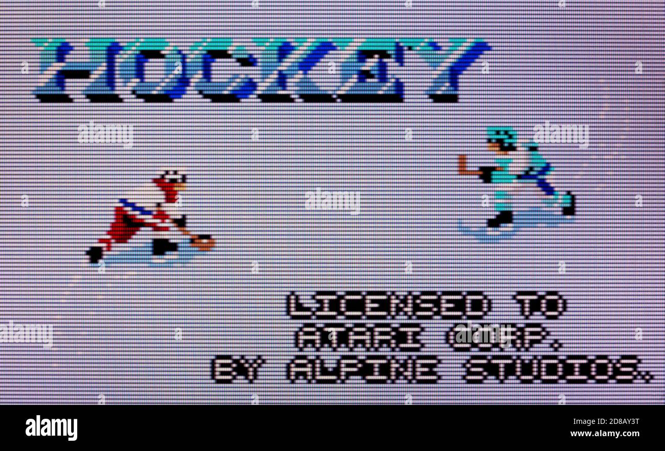 Hockey - Atari Lynx Videogame - Editorial use only Stock Photo