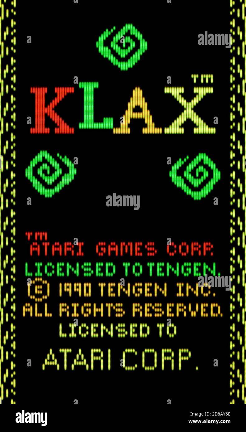 Klax - Atari Lynx Videogame - Editorial use only Stock Photo