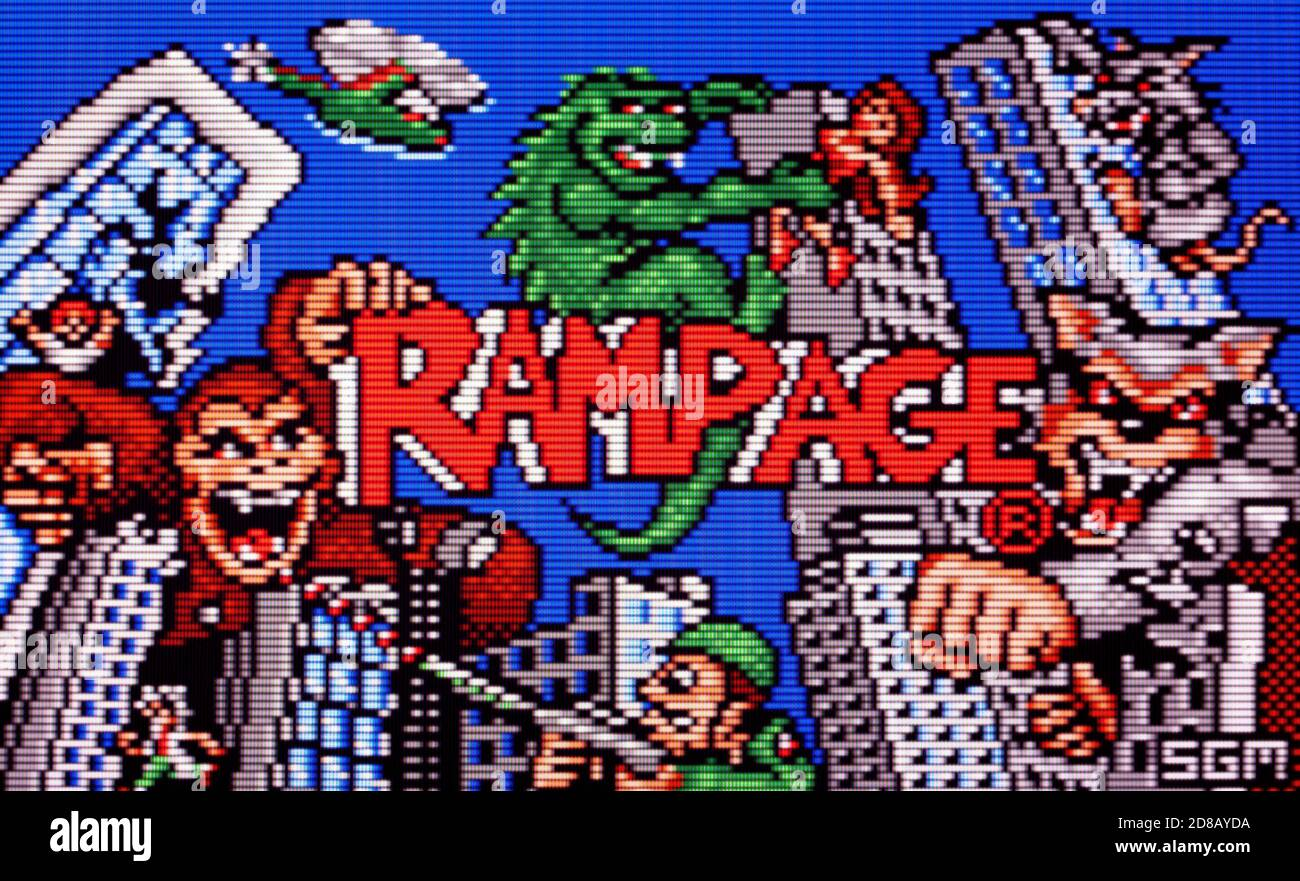 Rampage - Atari Lynx Videogame - Editorial use only Stock Photo