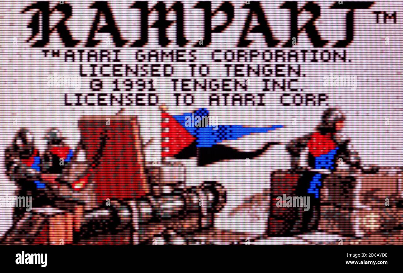 Rampart - Atari Lynx Videogame - Editorial use only Stock Photo