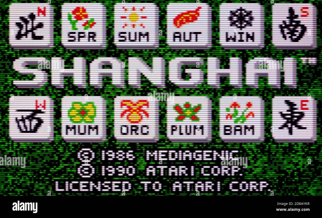 Shanghai - Atari Lynx Videogame - Editorial use only Stock Photo