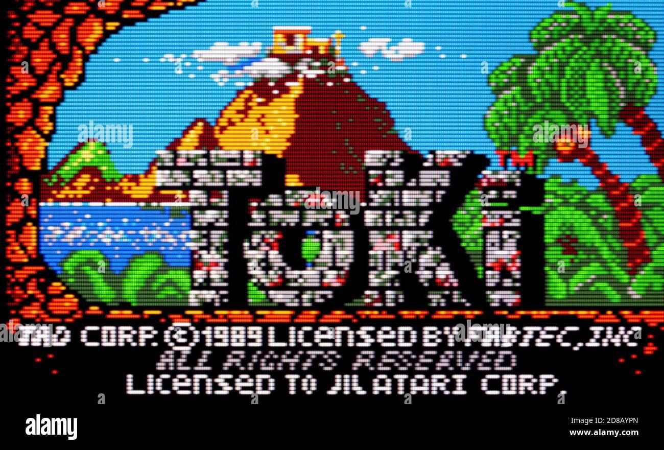 Toki - Atari Lynx Videogame - Editorial use only Stock Photo