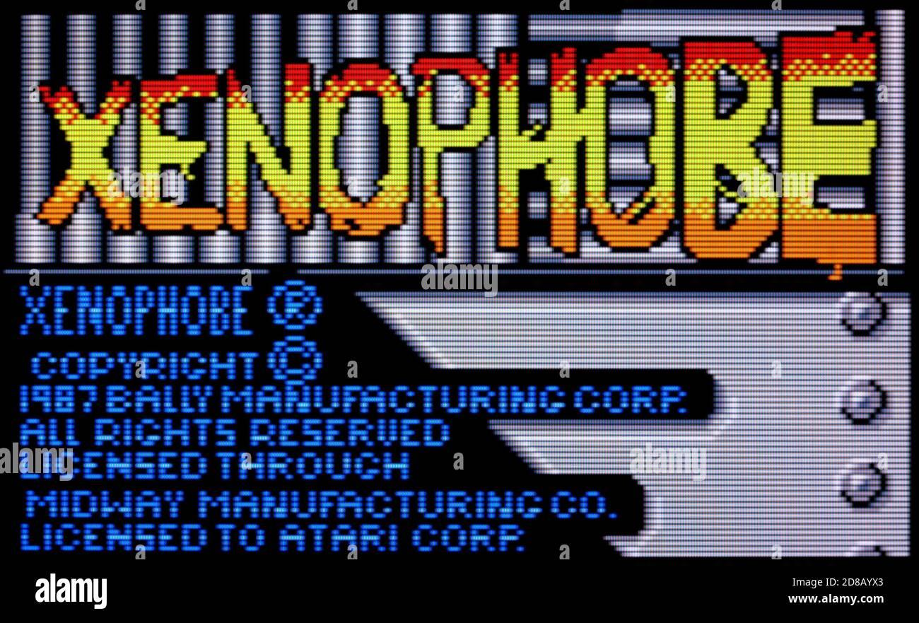 Xenophobe - Atari Lynx Videogame - Editorial use only Stock Photo