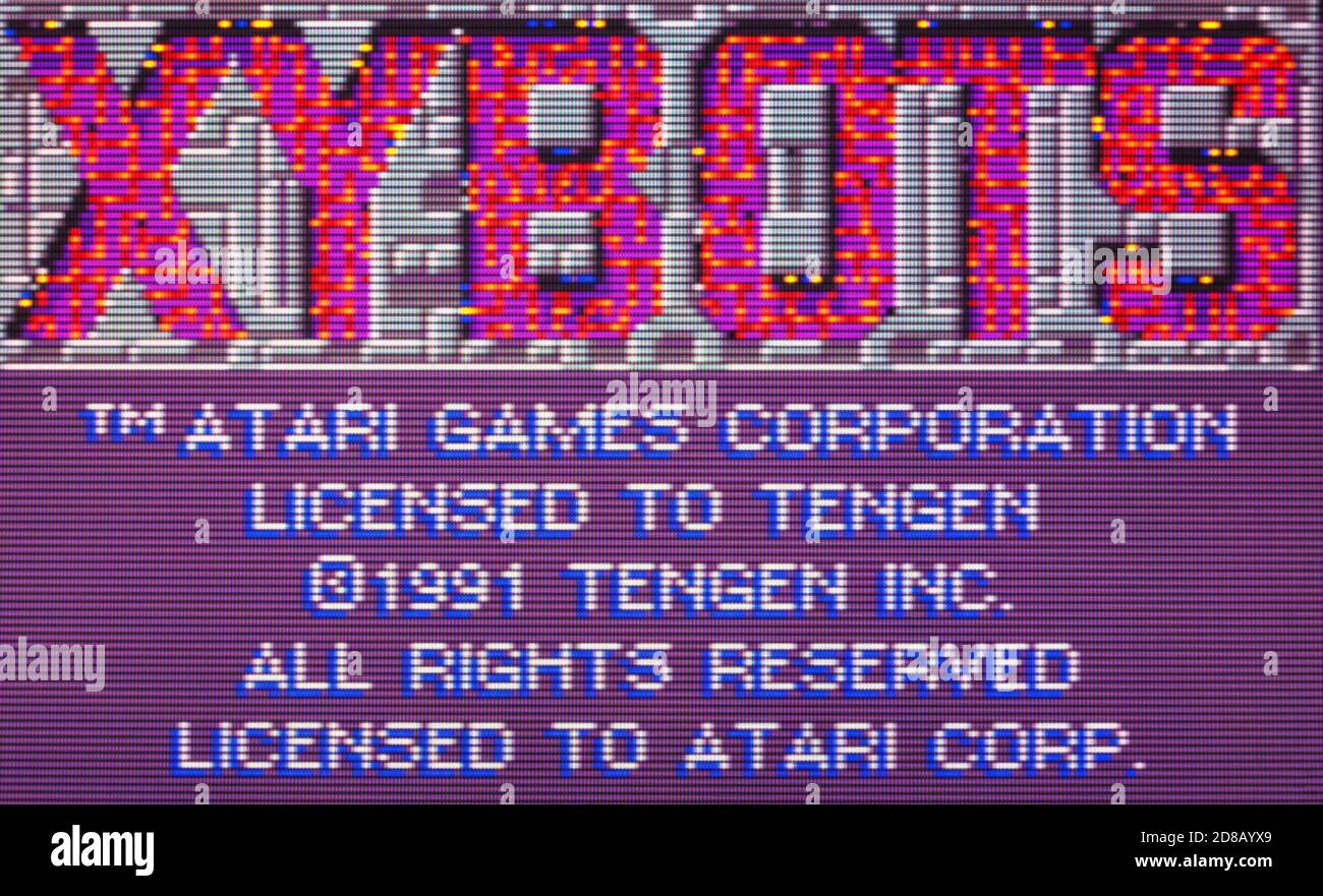 Xybots - Atari Lynx Videogame - Editorial use only Stock Photo