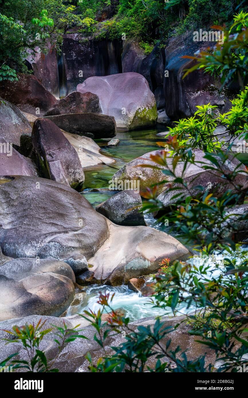 Babinda Boulders near Cairns, Far North Queensland, Australia Stock Photo