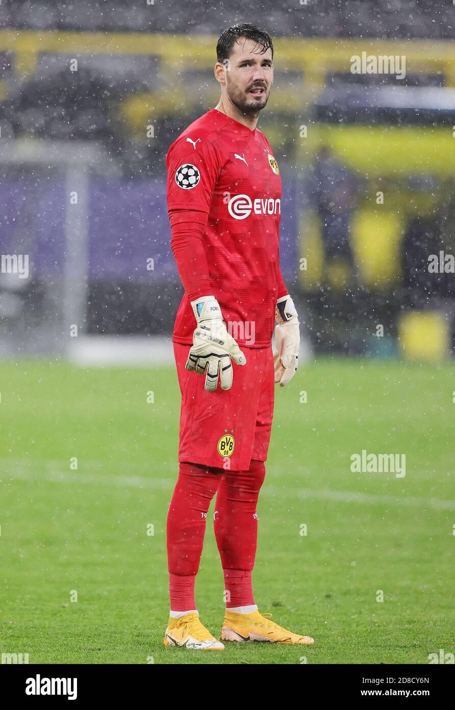 Roman Burki of Borussia Dortmund during the UEFA Champions League ...