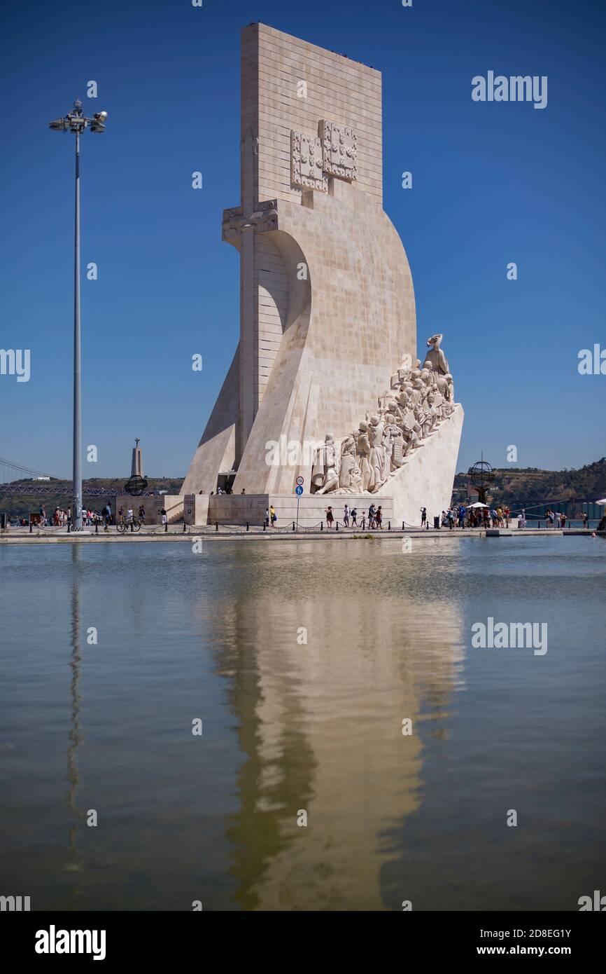 Monument of the Discoveries (Padrão dos Descobrimentos) in Lisbon, Portugal, Europe. Stock Photo