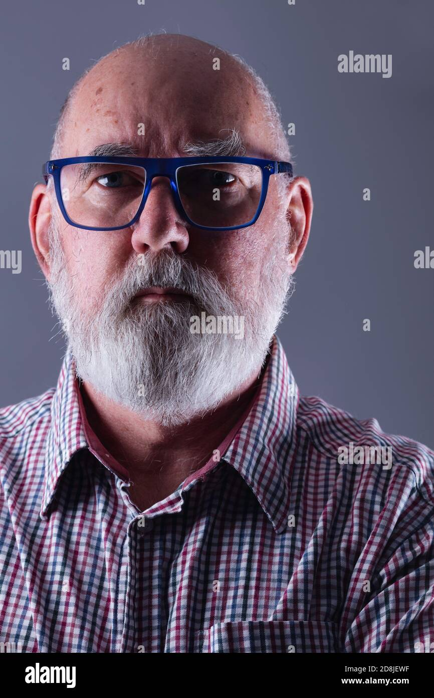 Portrait Of A Hairy Old Man Of 70 Warts And All Stock Photo Alamy Cute granny goddess justine gets her hairy pussy. alamy