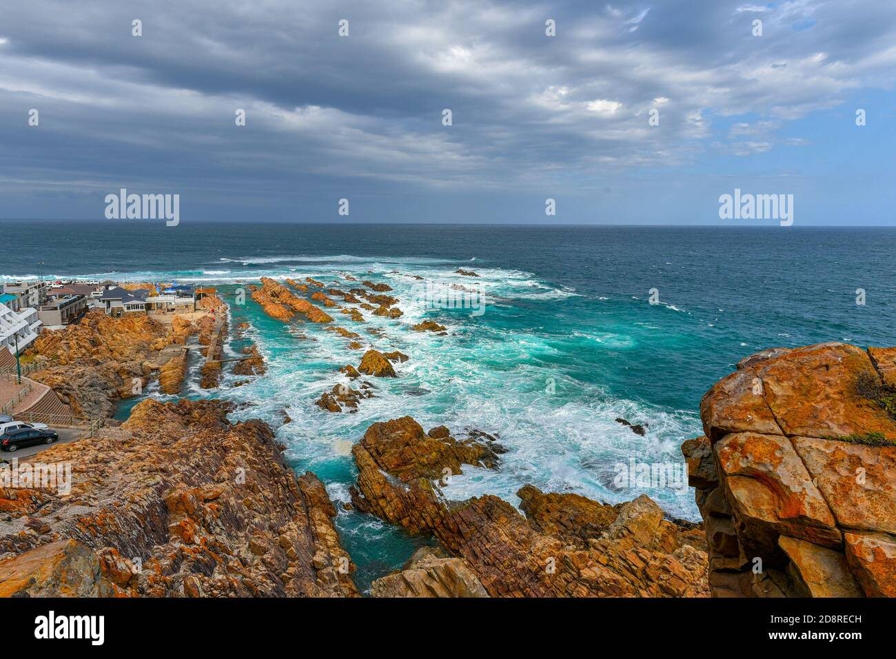 The magnificent view from the Cape St Blaize Lighthouse, Mossel Bay, Garden Route, South Africa Stock Photo