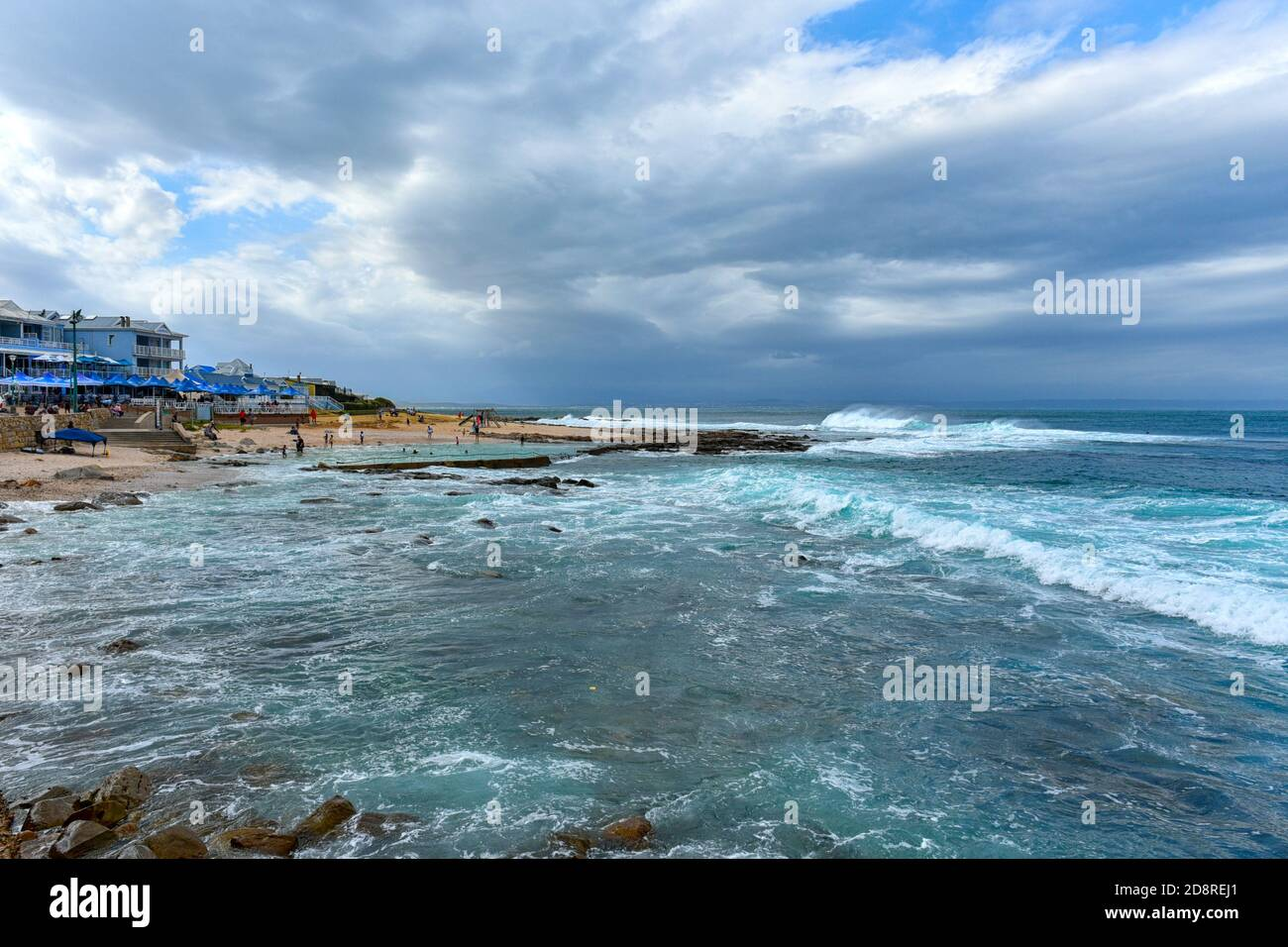 Mossel Bay Coastline on the Garden Route, Western Cape, South Africa Stock Photo