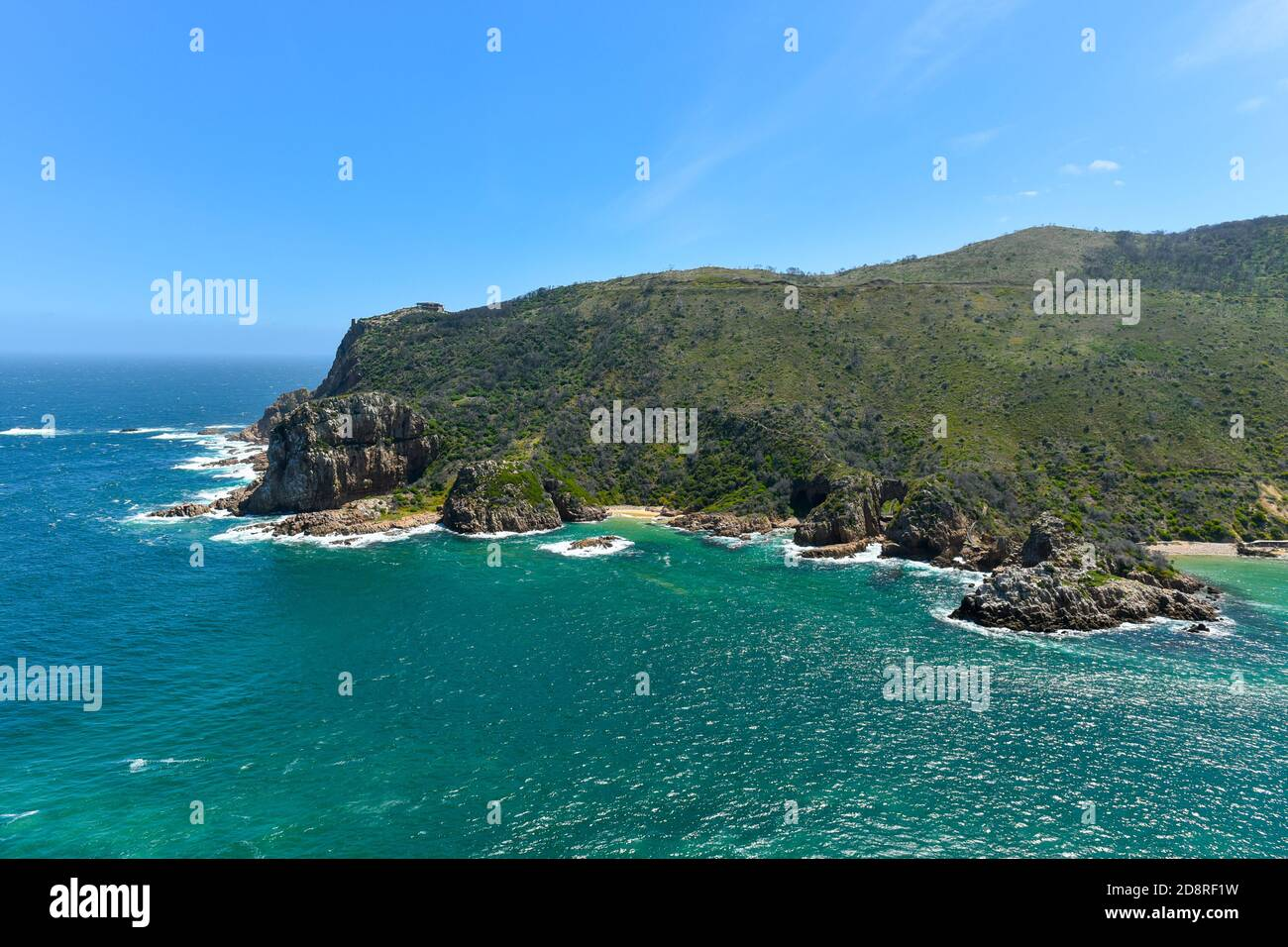 Knysna Heads in the Garden Route, South Africa is among the top attractions in the country Stock Photo