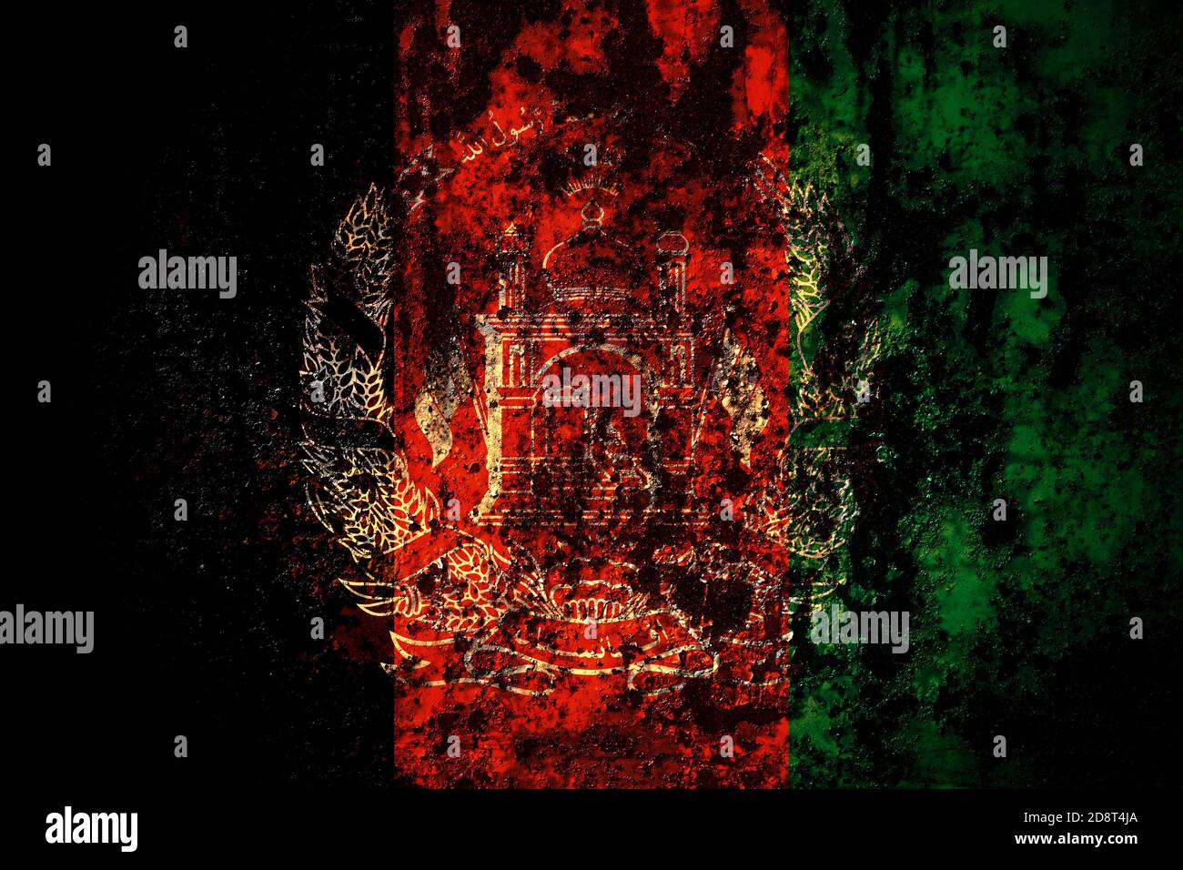 Afghanistan Afghan Flag On Grunge Metal Background Texture With Scratches And Cracks Stock Photo Alamy