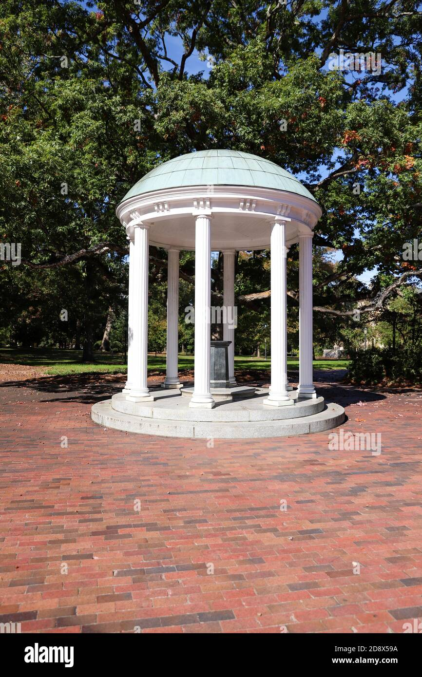 Chapel Hill, NC / USA - October 21, 2020: The Old Well on the campus of the University of North Carolina Stock Photo