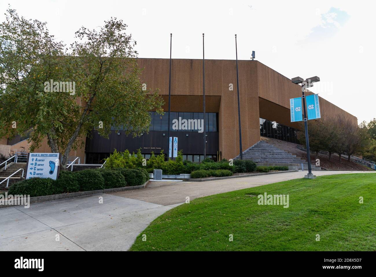 Chapel Hill, NC / USA - October 22, 2020: Dean E. Smith Center on the campus of the University of North Carolina. Stock Photo