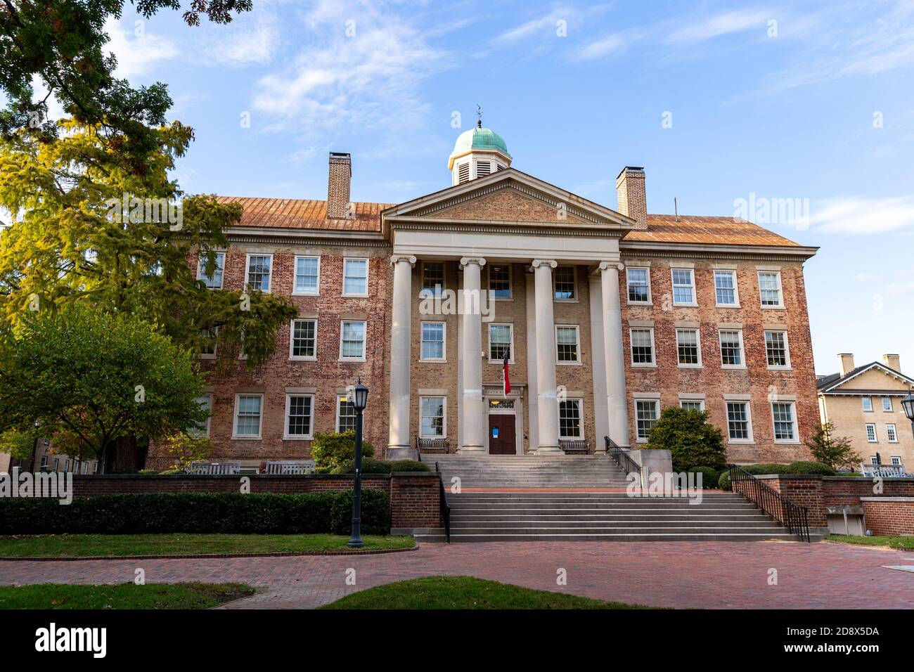 Chapel Hill, NC / USA - October 22, 2020: The South Building on the campus of the University of North Carolina Chapel Hill Stock Photo