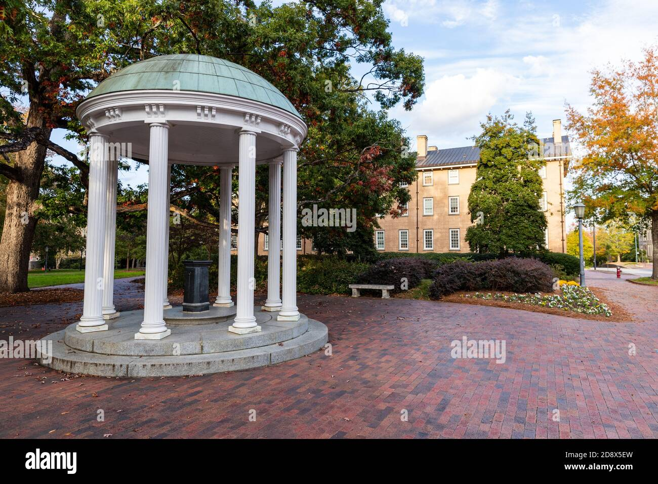 Chapel Hill, NC / USA - October 22, 2020: The Old Well on the campus of the University of North Carolina Chapel Hill Stock Photo