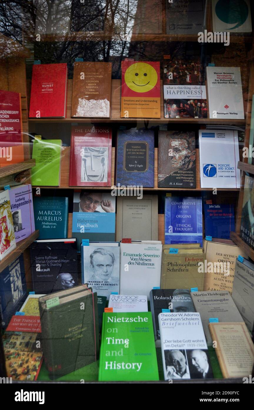 Decoration and interior of luxury bookstore shop for local german ...