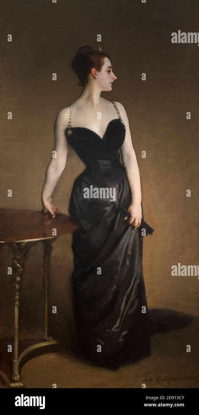 Portrait Of Madame X American Painting By John Singer Sargent Canvas Repro Large