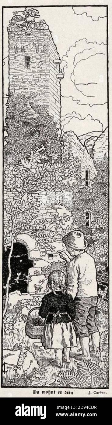 Julius Carben - Da wohnt er drin 1898. Stock Photo