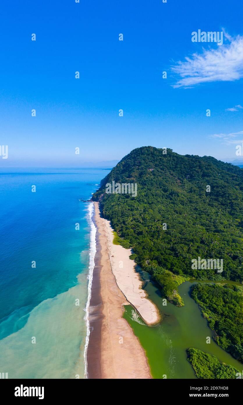 Majaguas hill, Pacific lookouts, Lo de Marcos village, Riviera Nayarit, Pacific Ocean, Nayarit State, Mexico, Central America, America Stock Photo