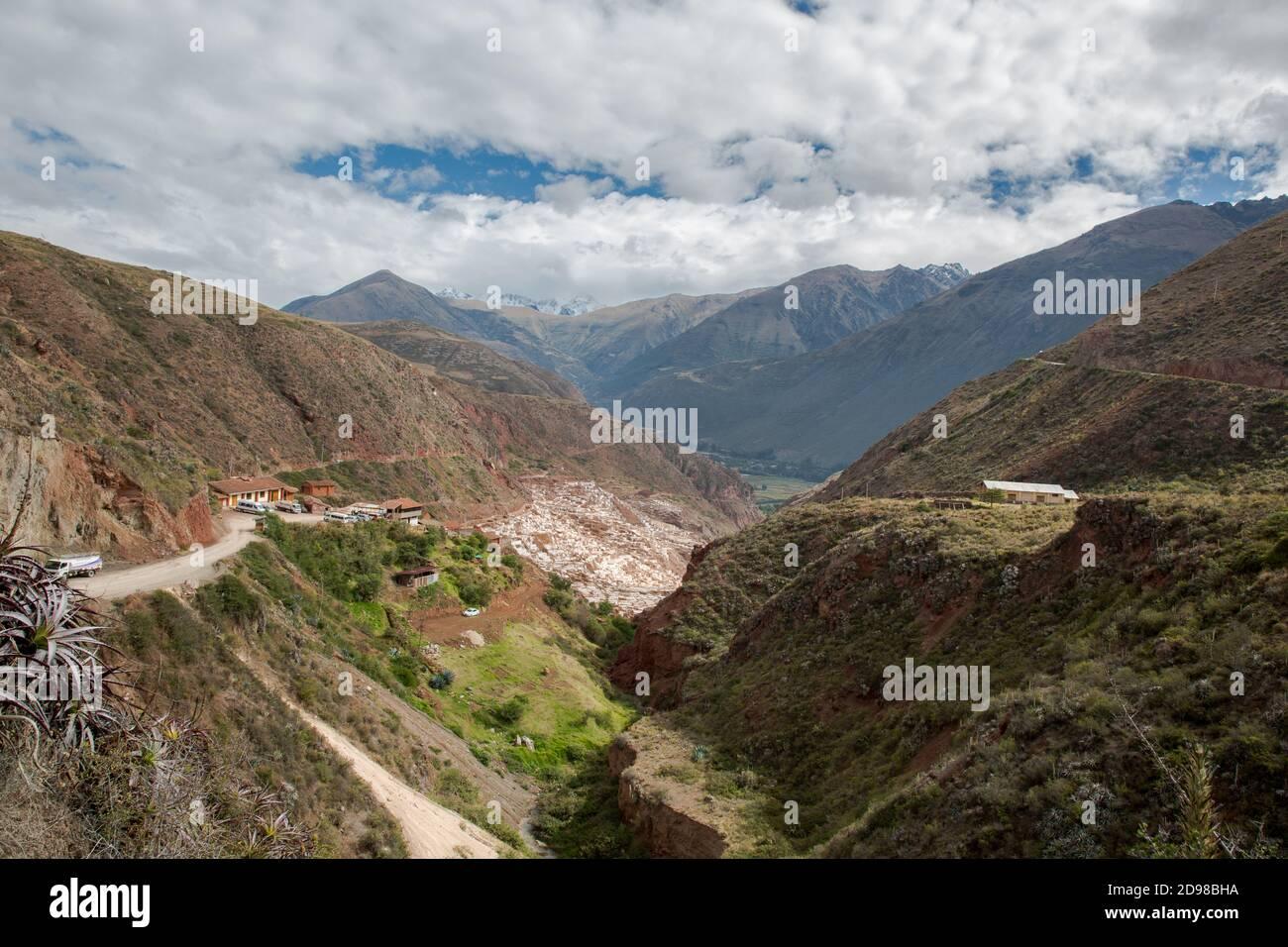 Salinas de Maras au Pérou. Stock Photo