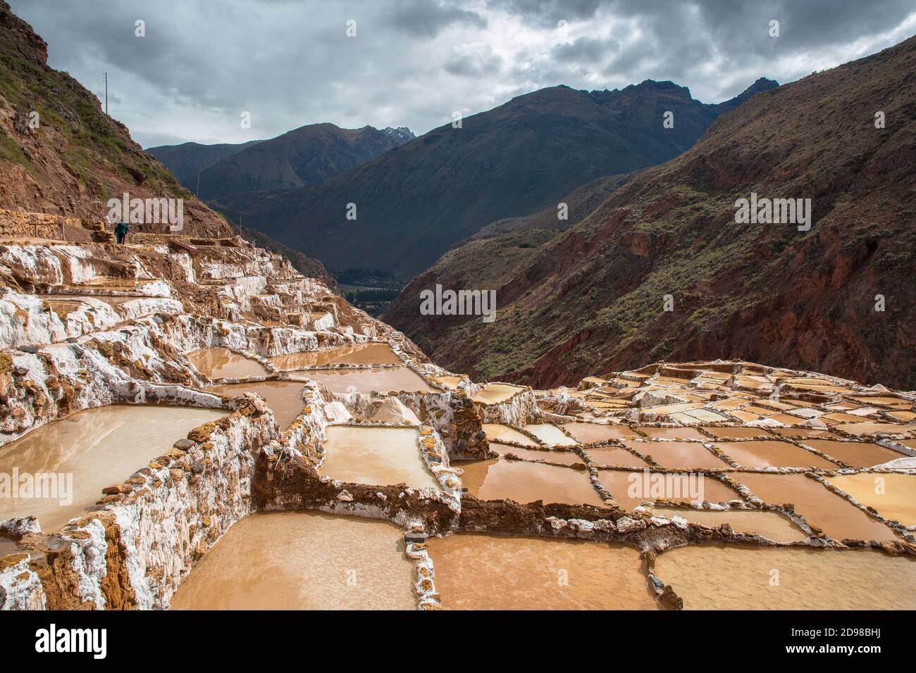 Salinas de Maras au Pérou. Stock Photo
