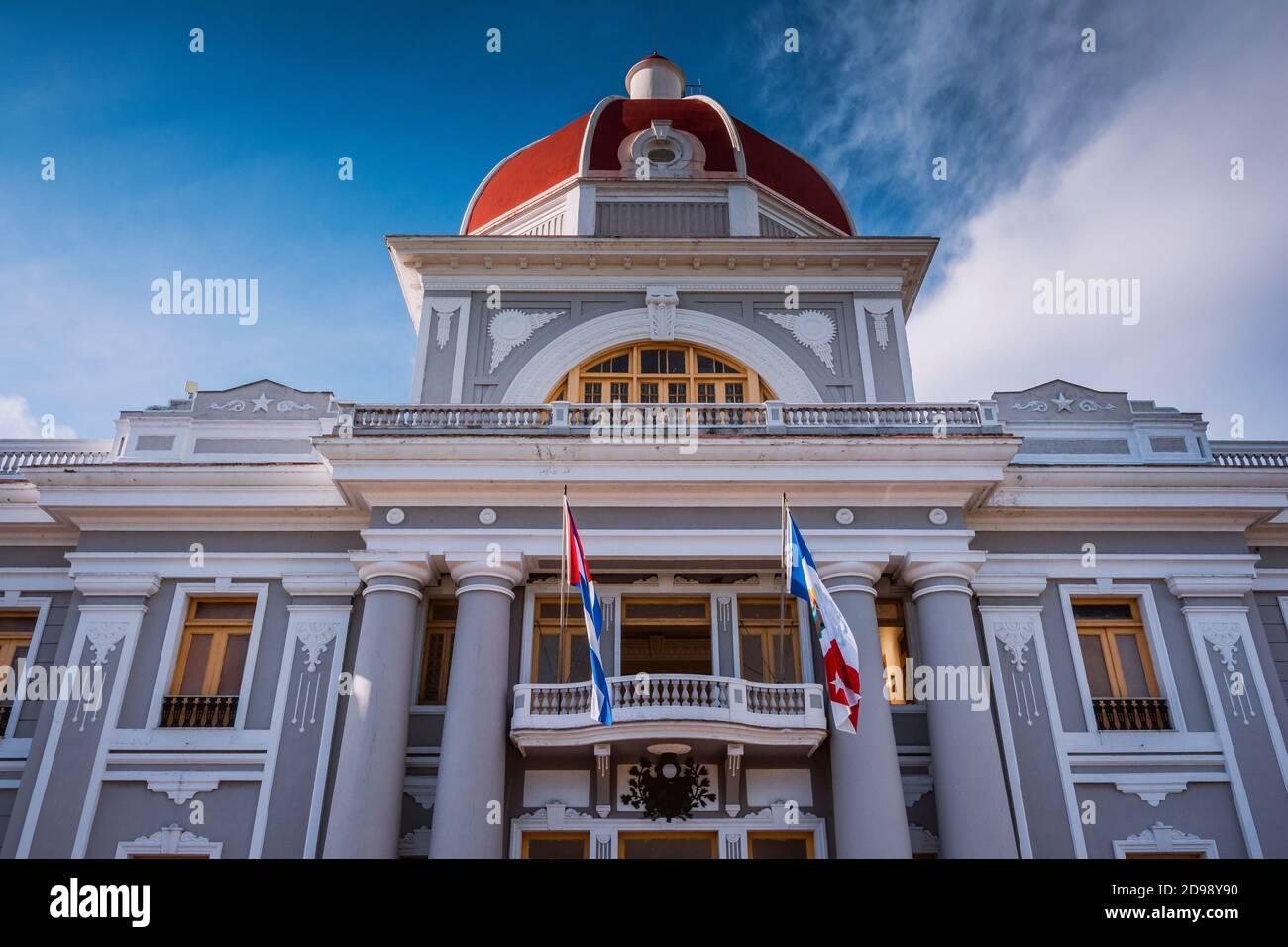 Palacio de Gobierno - Government Palace - City Hall and Provincial Museum, Cienfuegos, Cuba, Latin America and the Caribbean Stock Photo
