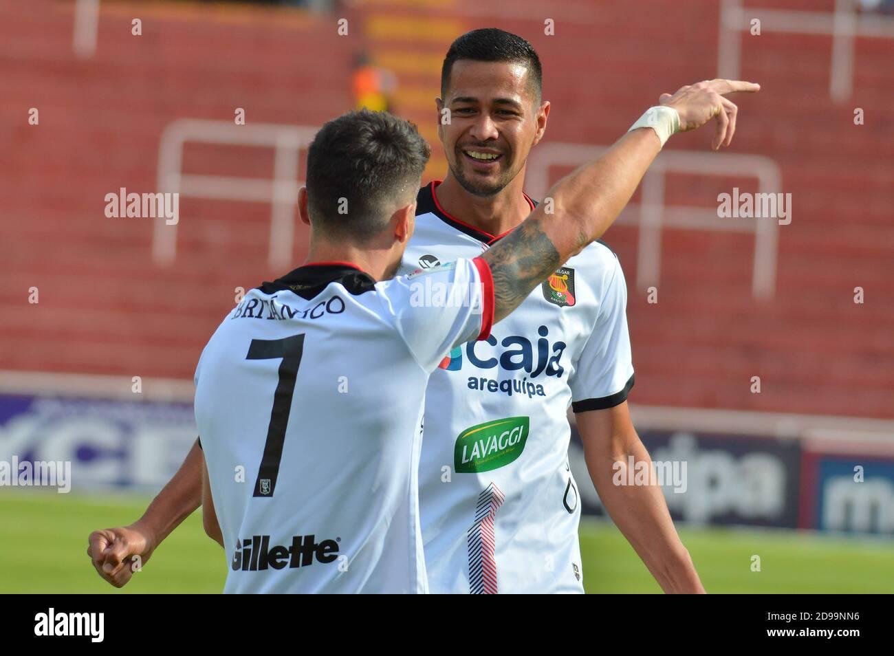 FBC Melgar vs Alianza Lima - Liga 1 (2019) Stock Photo