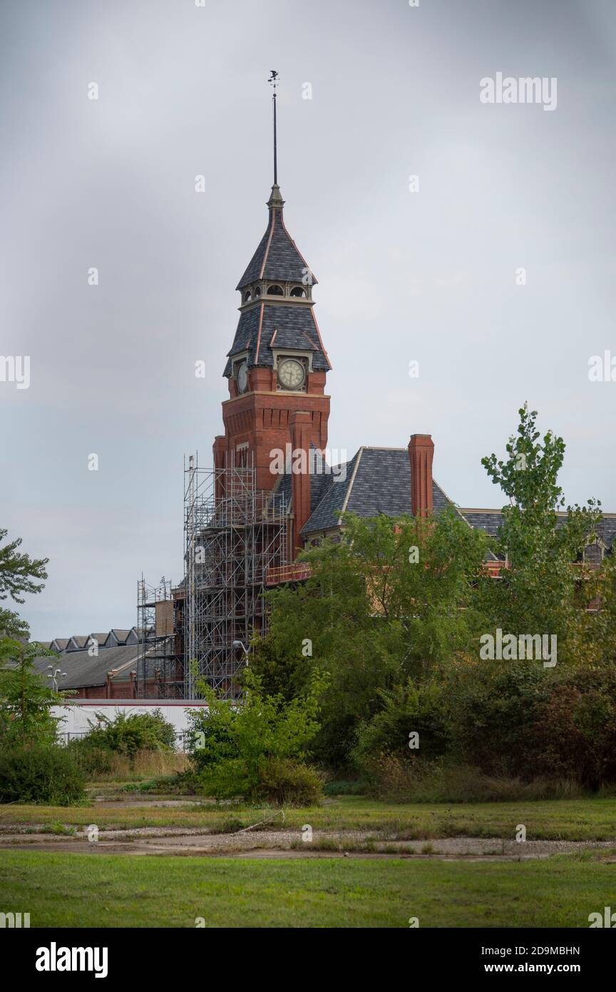 refurbishment being done to the Administration Building in Pullman. Now the Pullman National Monument Visitor Center Stock Photo