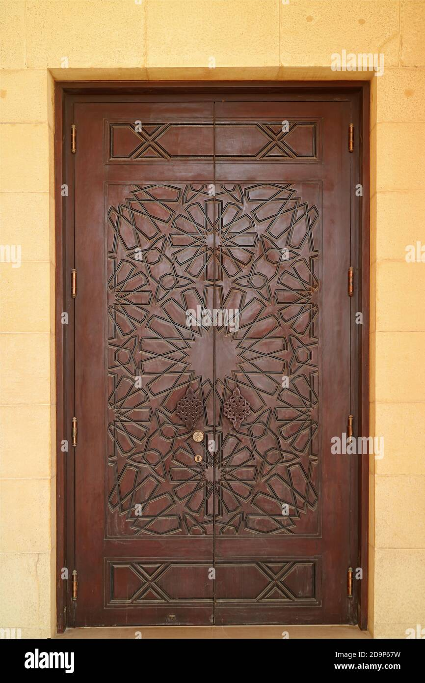 Decorative Wood Carving Wooden Door High Resolution Stock Photography And Images Alamy