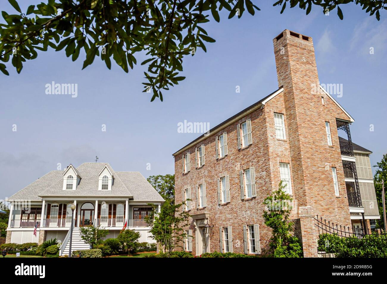 Louisiana Saint St. Tammany Parish Madisonville, homes buildings residences houses, Stock Photo
