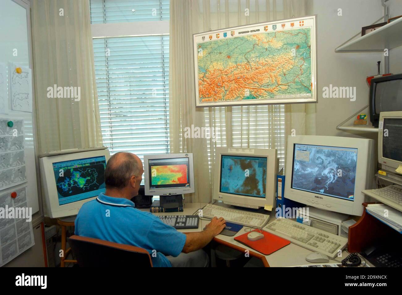meteorologen Stock Photo