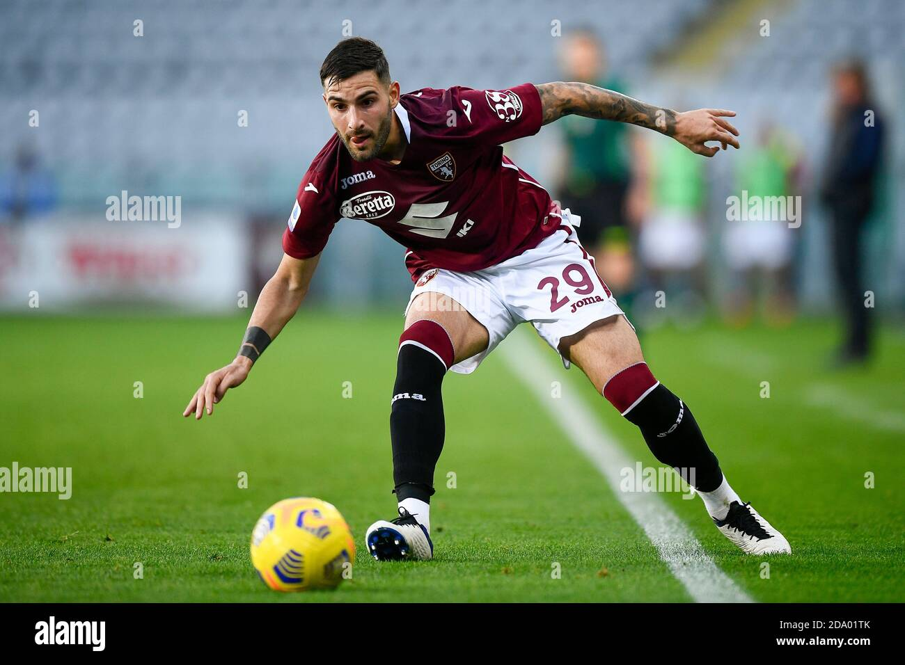 Turin, Italy. 08th Nov, 2020. TURIN, ITALY - November 08, 2020: Nicola Murru of Torino FC in action during the Serie A football match between Torino FC and FC Crotone. (Photo by Nicolò Campo/Sipa USA) Credit: Sipa USA/Alamy Live News Stock Photo