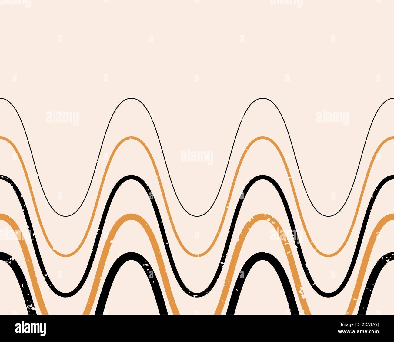 Abstract Contemporary Aesthetic Background With Geometric Balance Shapes Boho Wall Decor Mid Century Modern Minimalist Neutral Art Print Organic Sh Stock Vector Image Art Alamy