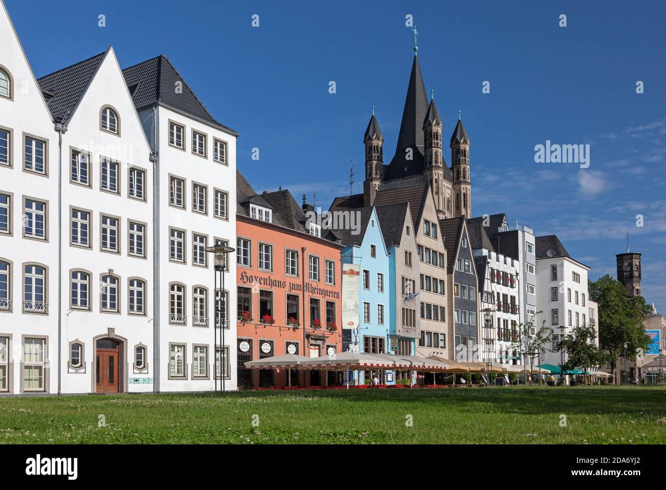 geography / travel, Germany, North Rhine-Westphalia, Cologne, capital St. Martin in the old town, Colo, Additional-Rights-Clearance-Info-Not-Available Stock Photo
