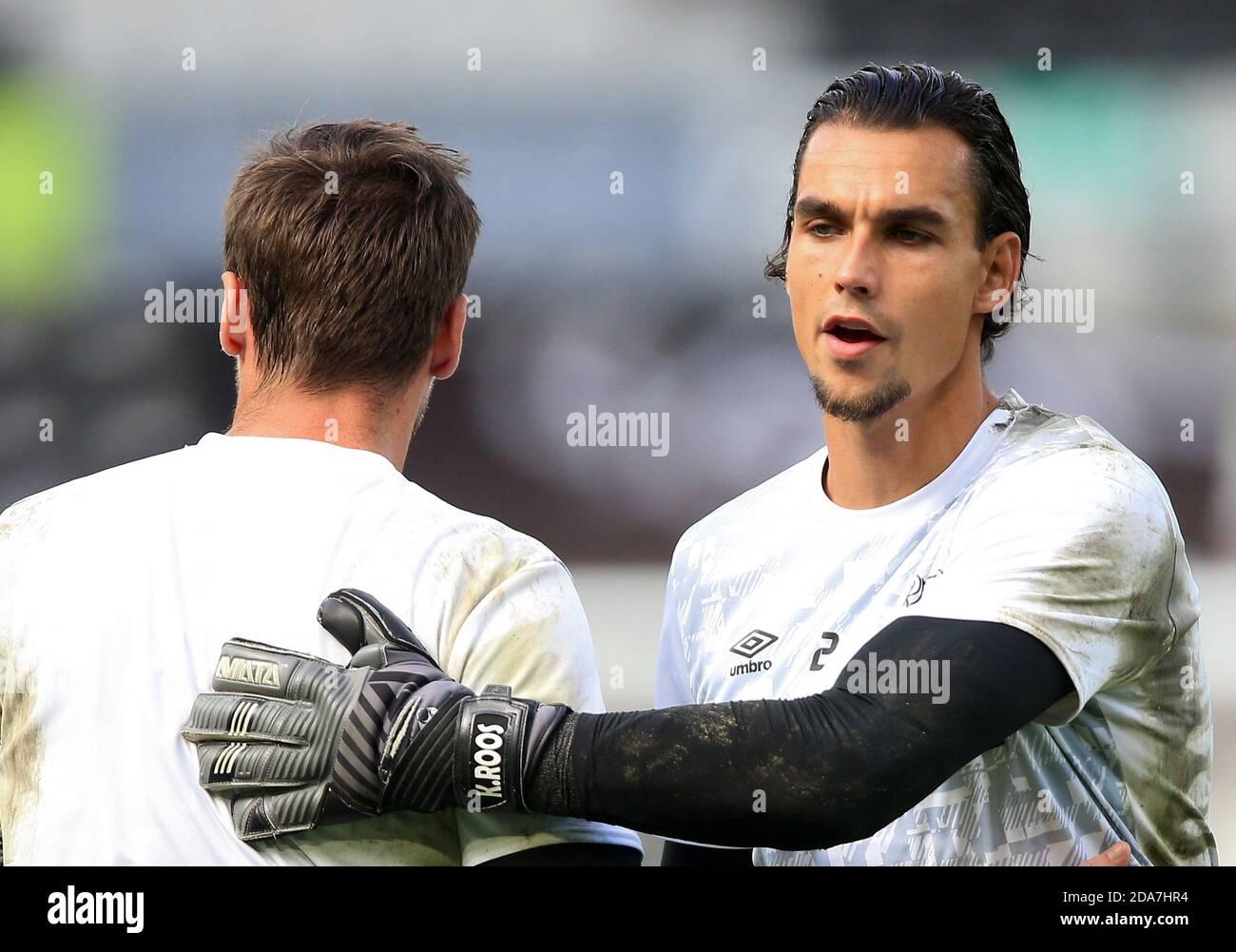 Derby County goalkeeper Kelle Roos Stock Photo